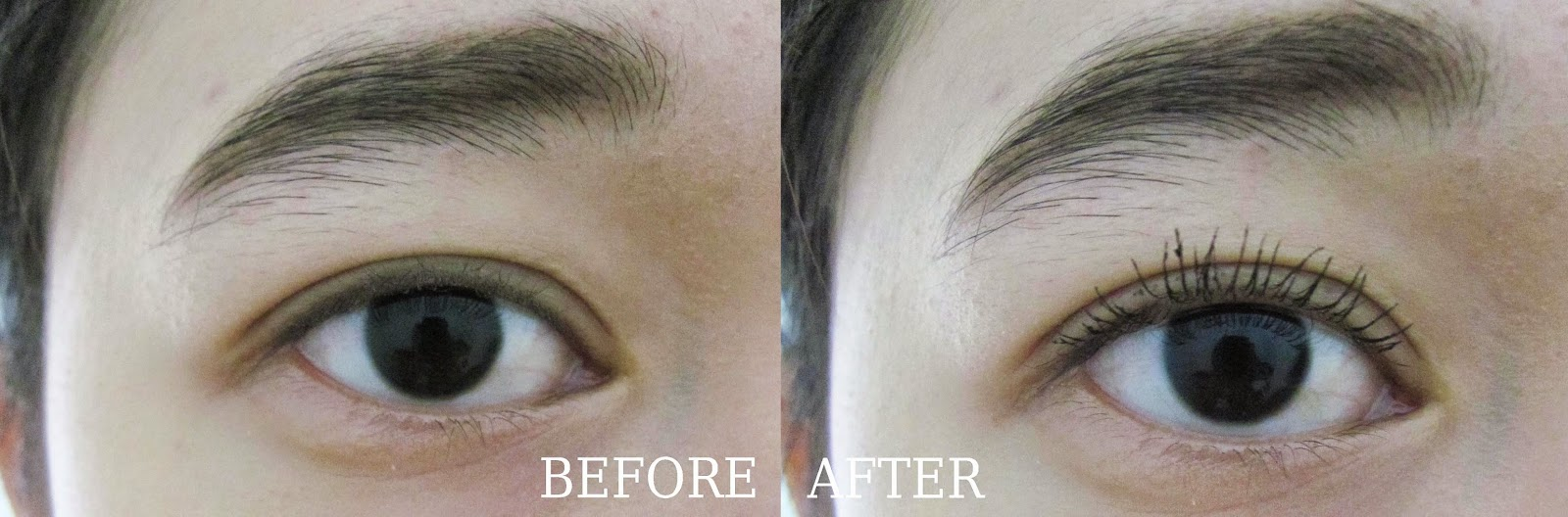 Before After Pemakaian Maybelline Volume Express Turbo Boost Mascara Waterproof
