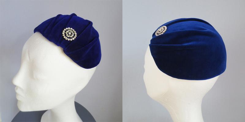 Hat by Stina P Saphir Jewels Hiver 1951