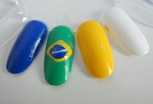 p2 Match It Worldcup Limited Edition - Brasil Flag Nailart