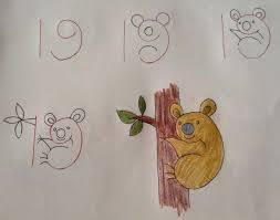 رسم الحيوان الذي يستلق الأشجار