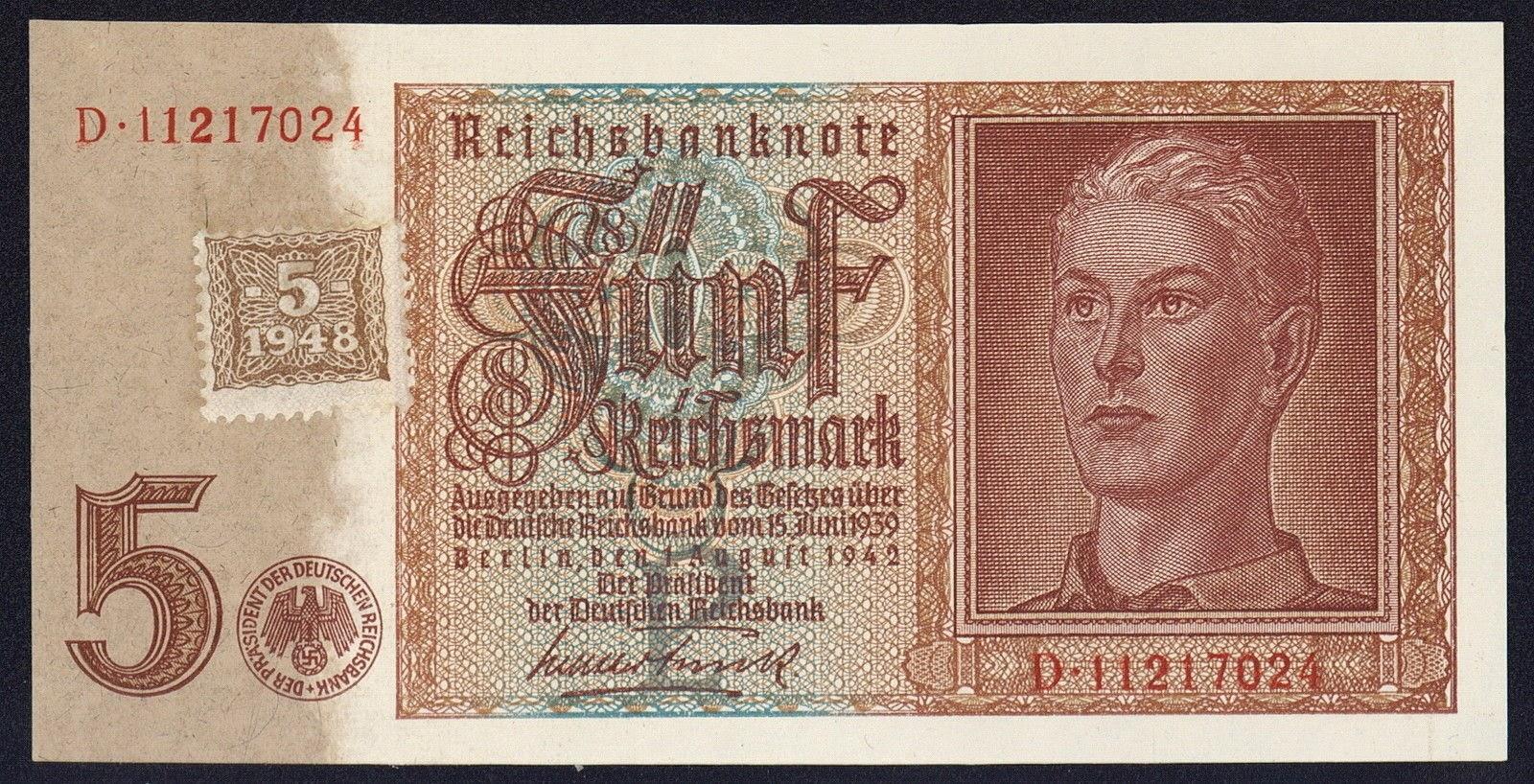 Germany 5 reichsmark banknote 1942 hitler youth 1948 ddr stamp germany 5 reichsmark banknote 1942 hitler youth 1948 ddr stamp buycottarizona