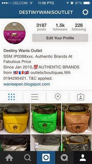 Destiny Wanis Outlet IG
