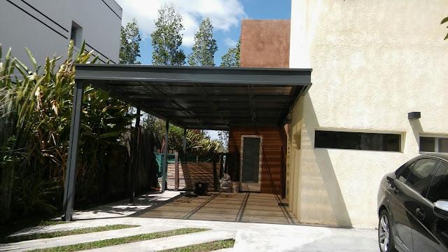Techo de policarbonato pergolas aleros techo para for 5 principales villas ocultas