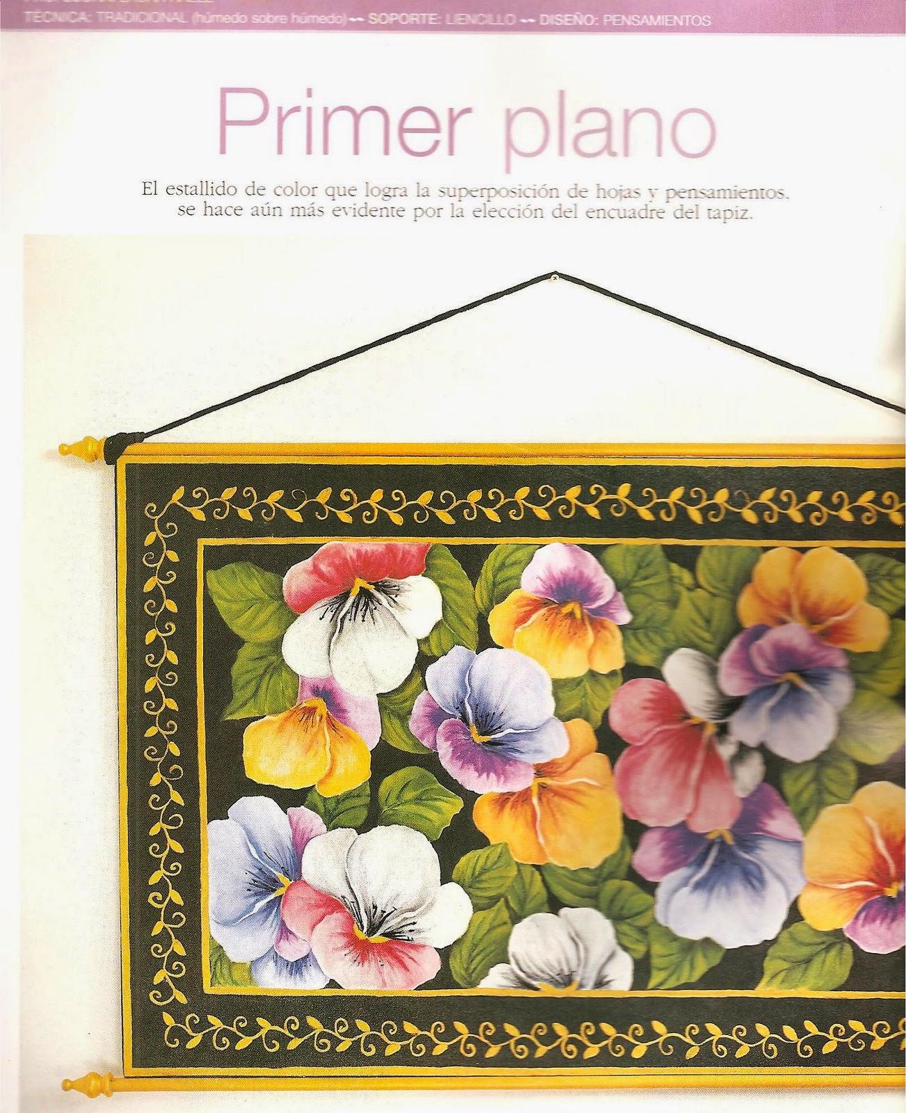 Como pintar sobre tela paso a paso revistas de manualidades gratis - Como pintar sobre tela ...
