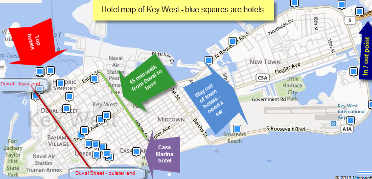 Hotel Map Of Key West