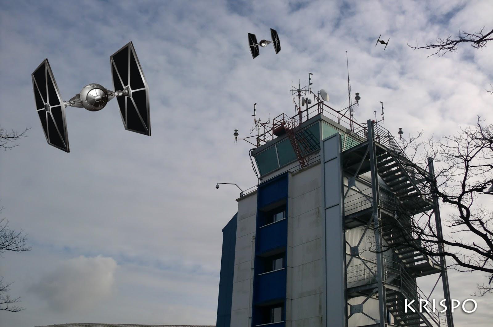 fotomontaje de Star Wars en Hondarribia