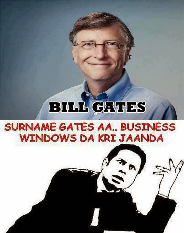 Bill Gates - Trolled - Punjabi Troll - Desi Unit - Desi Troll