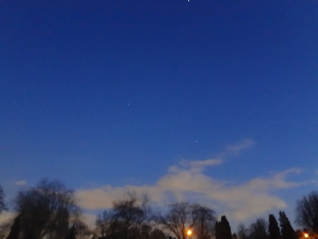 clear blue night sky in vancouver