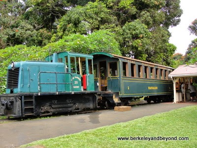 Kauai Plantation Railway train at Kilohana Plantation in Lihue, Kauai, Hawaii