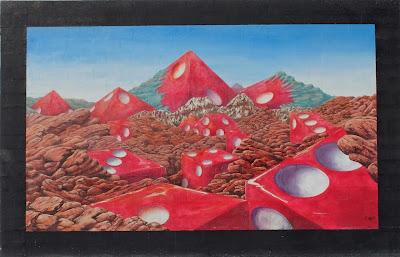 Pyramid at Red Rock Canyon Mural