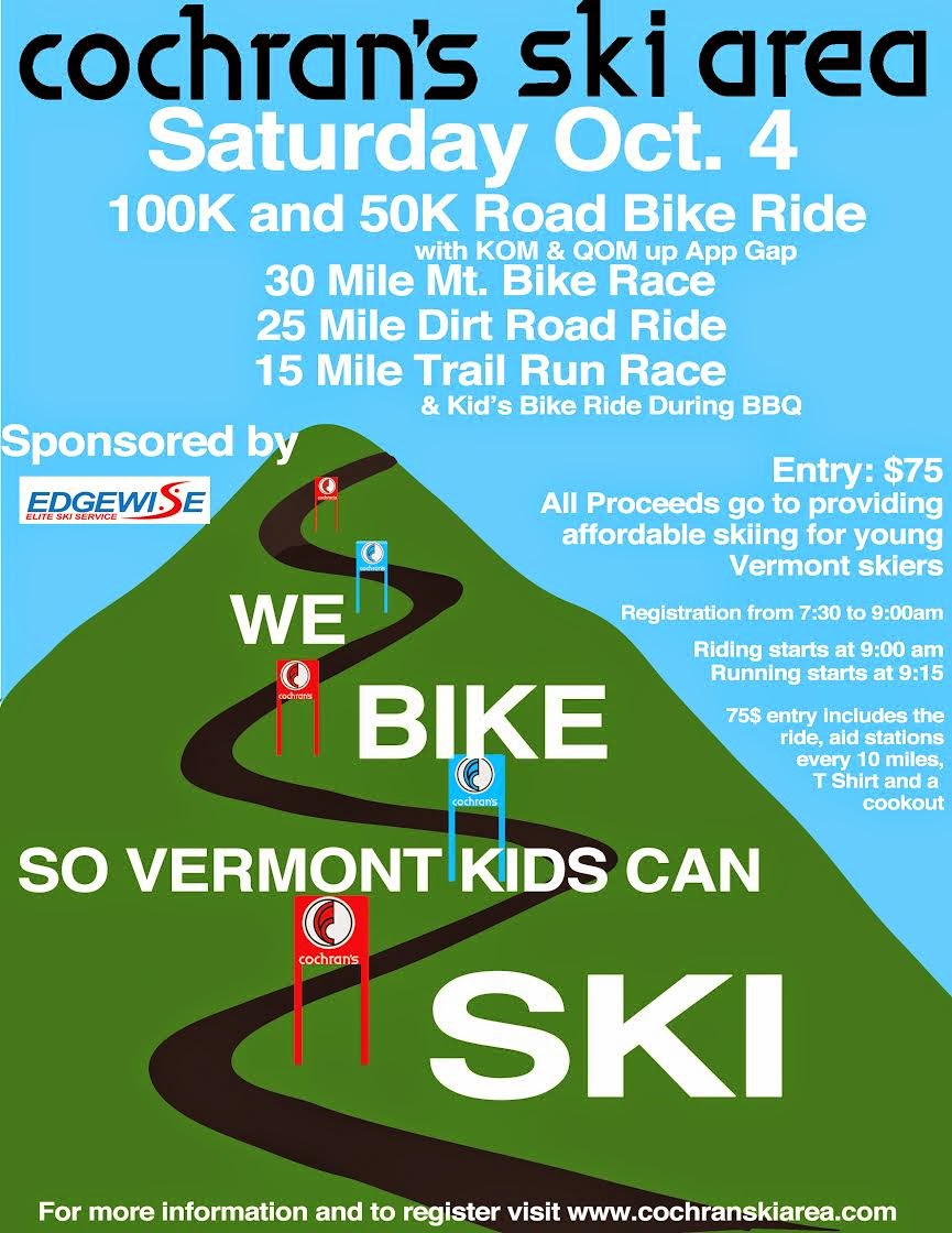 We Bike So VT Kids Can SKI