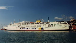 Bari - Durazzo , con la nave M/n Lato di Anek Lines
