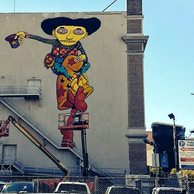 Street Art By Os Gemeos And Mark Bode At The Warfield Theatre In San Francisco. 4