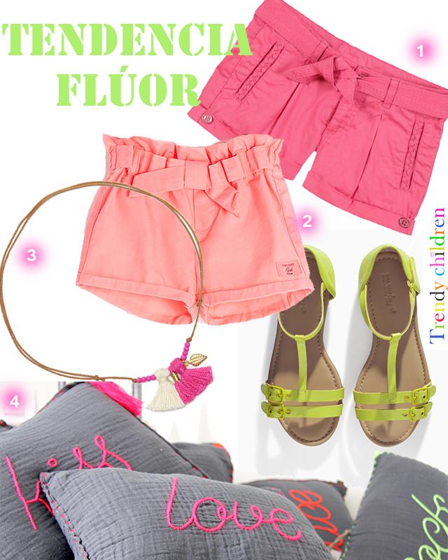 tendencia flúor moda infantil