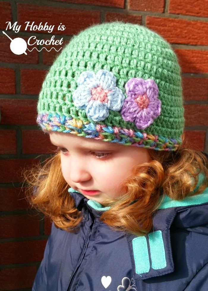 My Hobby Is Crochet Touch Of Spring Hat Free Crochet Pattern My