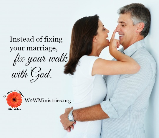Instead of fixing your marriage, fix your walk with God. #youandmeforever #marriage