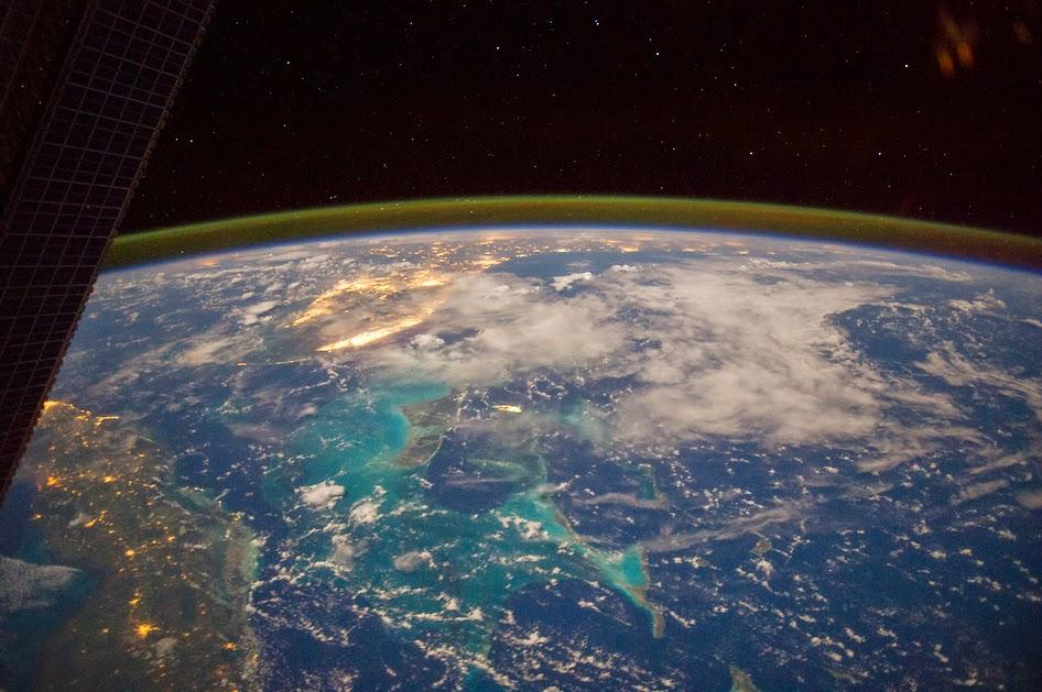 Foto do Espaço mostra o mar do Caribe e a Flórida nos EUA
