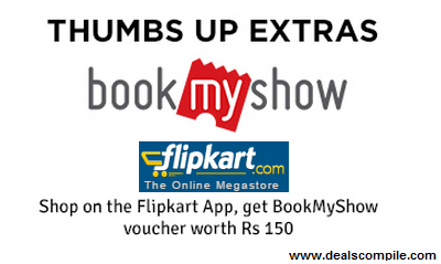 Get Free BookMyShow Voucher worth Rs.150 on Shopping anything at Flipkart