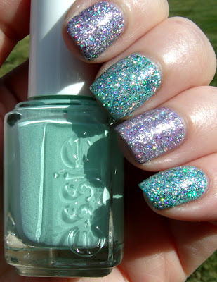 Essie Mint Candy Apple & FF Holographic Glitter