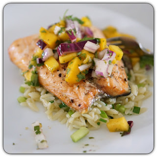 Salmon recipe with mango