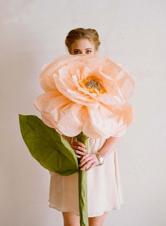 flores papel gigantes