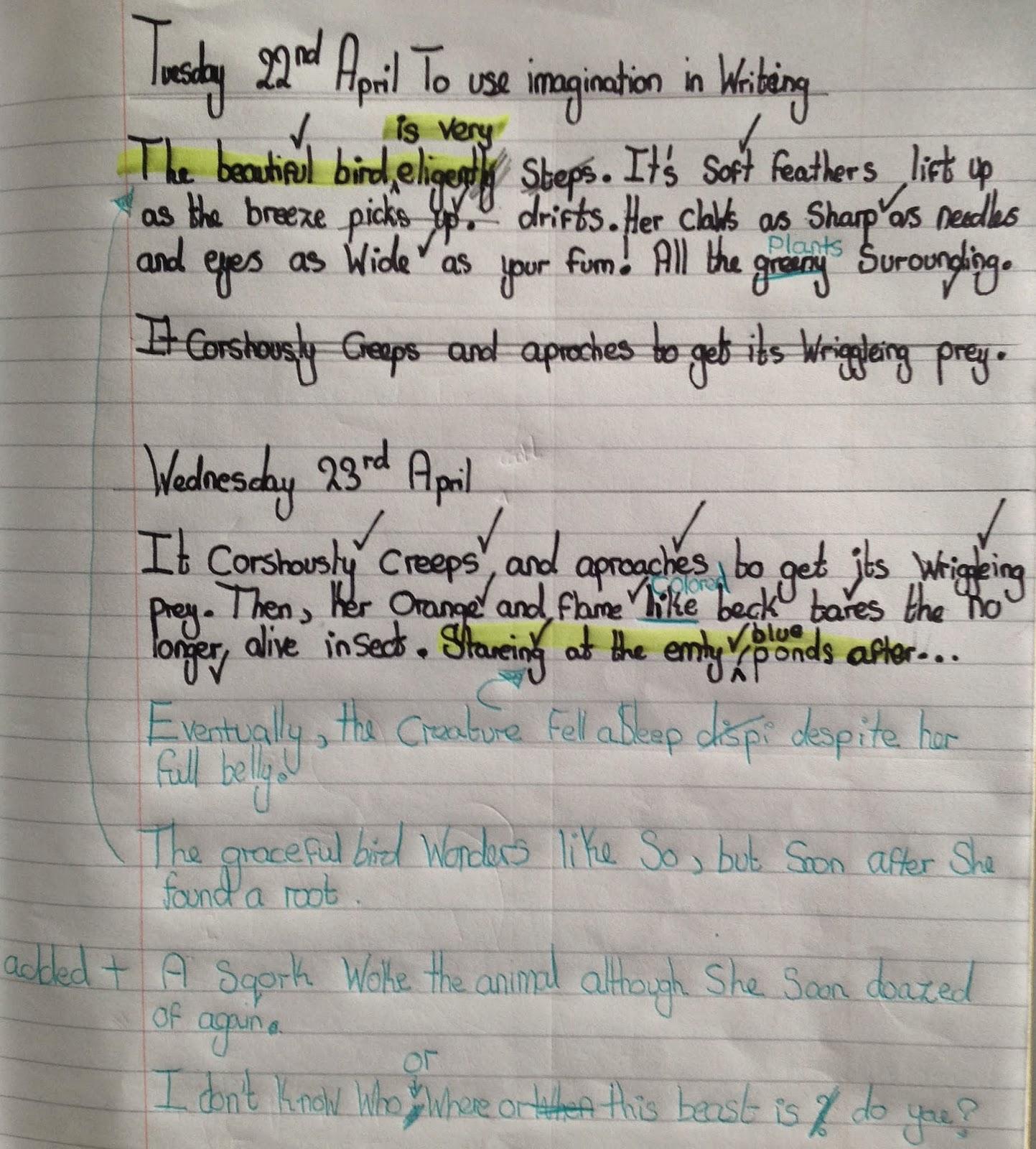 Example Creative Writing
