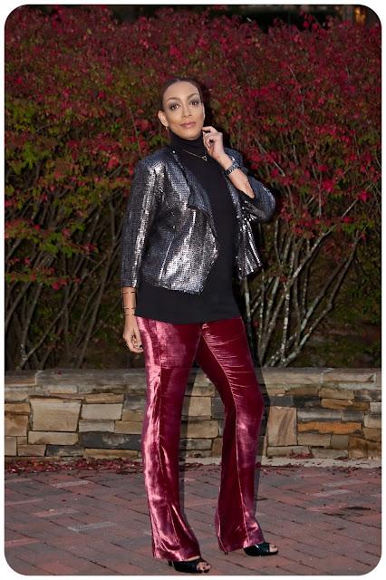 How to Wear Velvet Pants Fall 2015! Vogue 1465 top & Vogue 9032 Rayon Velvet Pants - Erica Bunker DIY Style!
