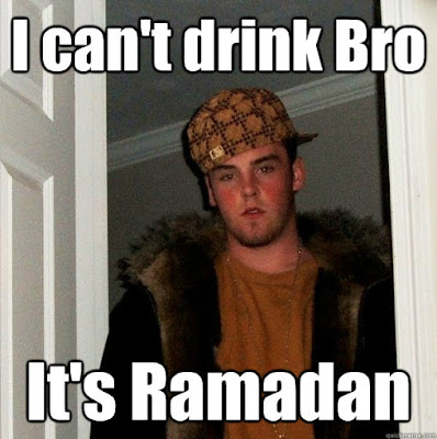 "WHAT REDNECKS SHOULD KNOW ABOUT RAMADAN? What is Ramadan? IT'S A LUNAR MONTH APPROXIMATELY 28 TO 30 DAYLIGHTS. NO HOGGING. NO FUCKING. NO LYING. NO SWEARING. NO BOOZING. NO PUFFING. NO LYNCHING. Wait – you can't eat for a whole month? ONLY AT DAYLIGHT. ASSHOLES! You can't even drink water?? NO WATER NO MOONSHINE. Can you do anything? Yup Isn't it hard to not eat or drink at all? NOP ITS FUN. How are kids supposed to fast all day? What about school? ITS WORKING FOR 1436 YEARS. But they banned fasting in those schools in London… YEH UNTIL THE BRITISH GOT ANOTHER BOMB HOAX IN SUBWAY. What if you're sick? What about old people??? THEY CAN EAT. Is Eid the same thing as Kwanzaa? Nop! KWANZAA IS HONIGGAS EID Is there any saying for Eid, like, ""Merry Christmas""? YEH Anything else? LOAD YOUR WALLET FOR POOR AND NEEDY PEOPLE."