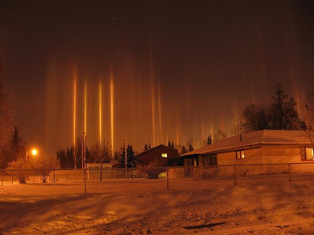 Light Pillar Nature S Beautiful Special Effect Kuriositas