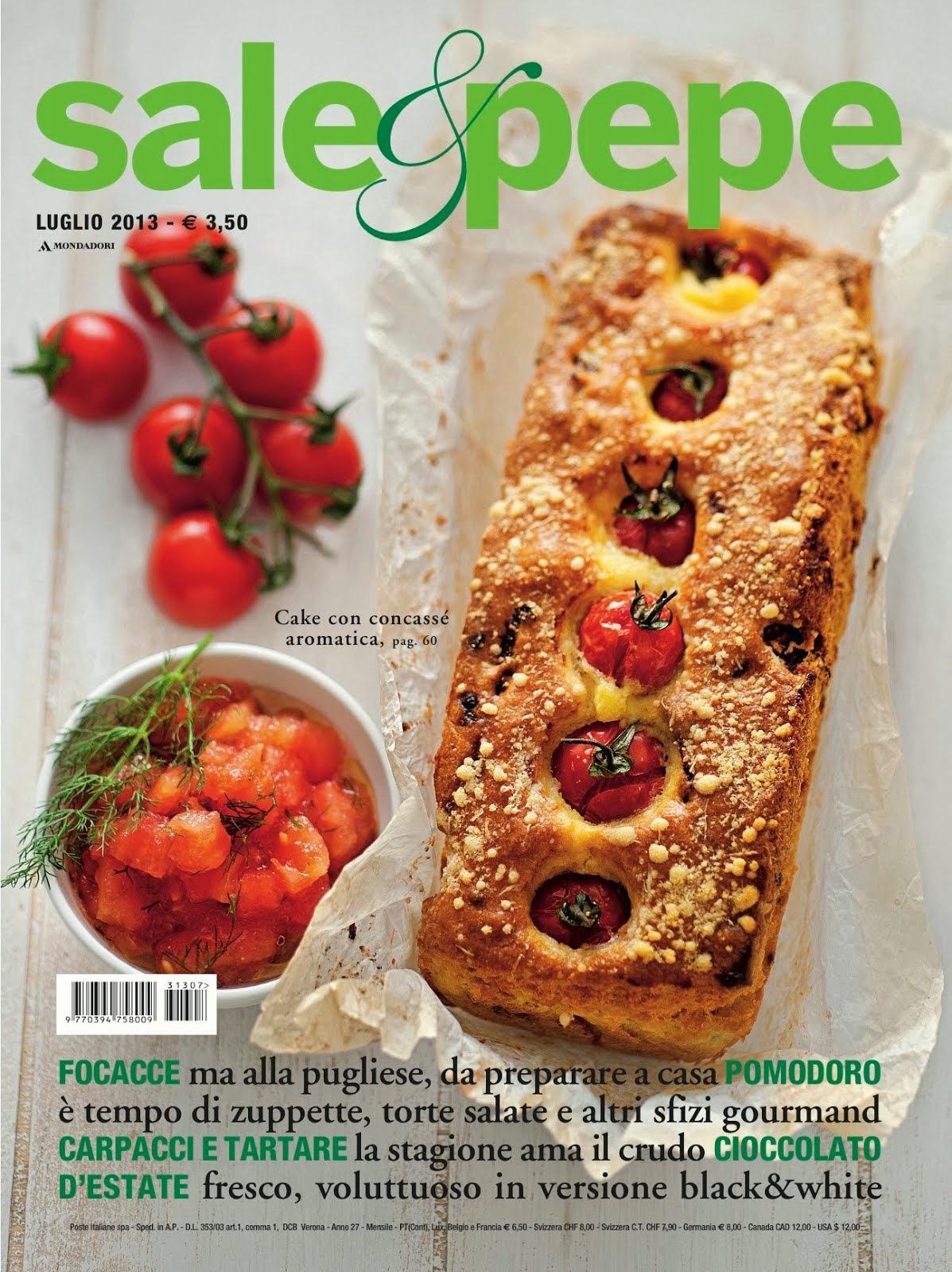 Sono su Sale & Pepe - Luglio 2013 - con i Muffin ai pomodori secchi