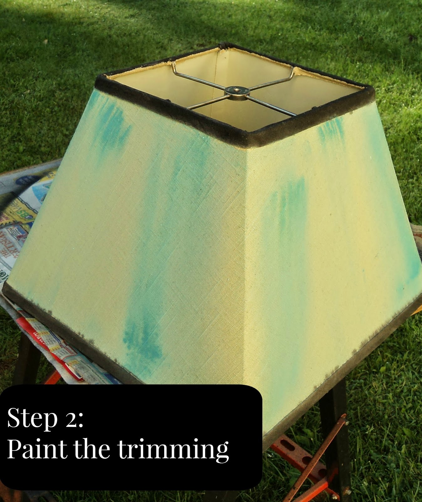Painted Lamp Shade for TCW: 1 Stencil 4 Ways Series | Redo ...