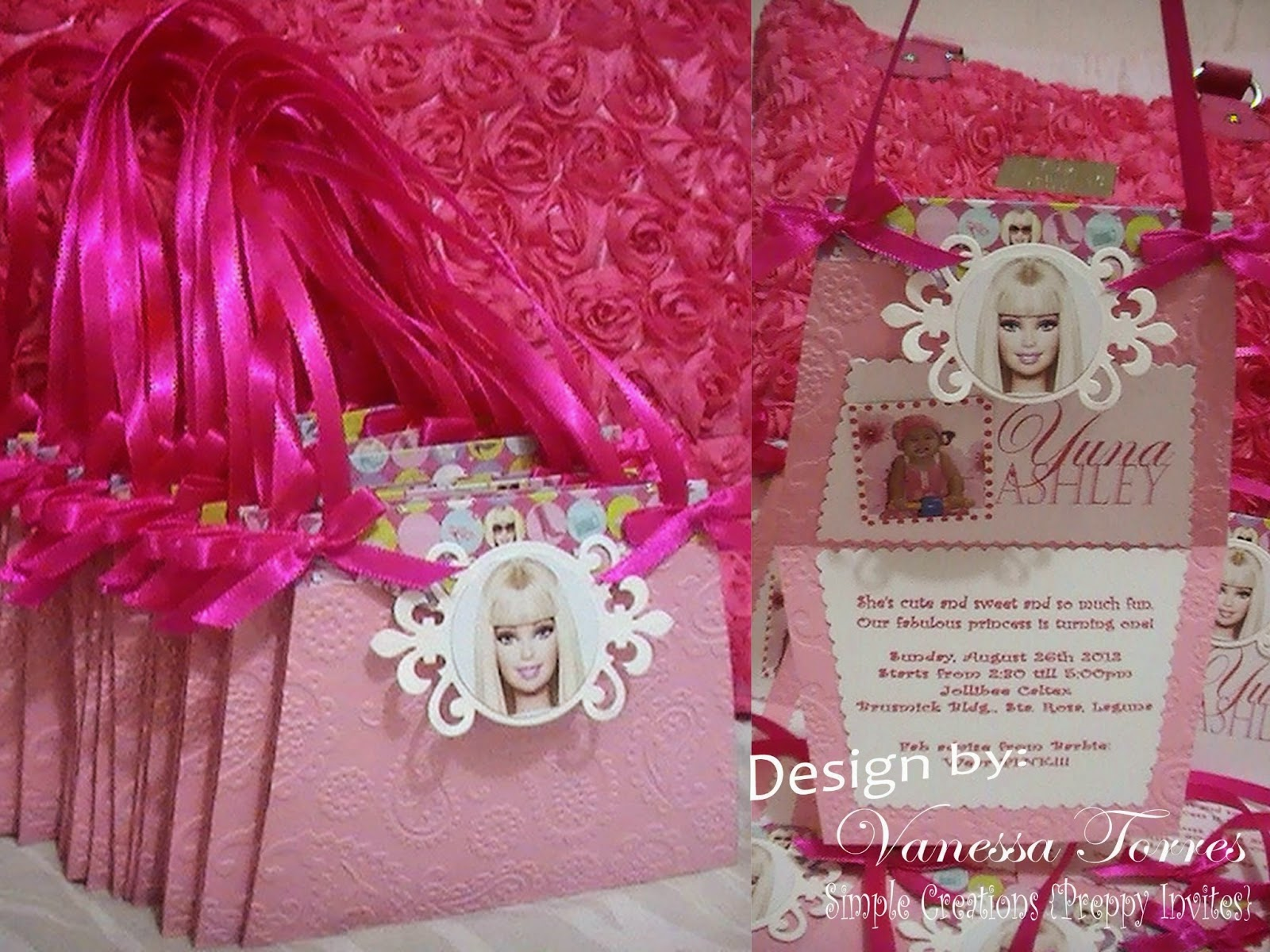 Barbie Purse Invitation