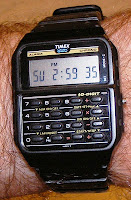Timex calculator sports watch, manufactured around 1990