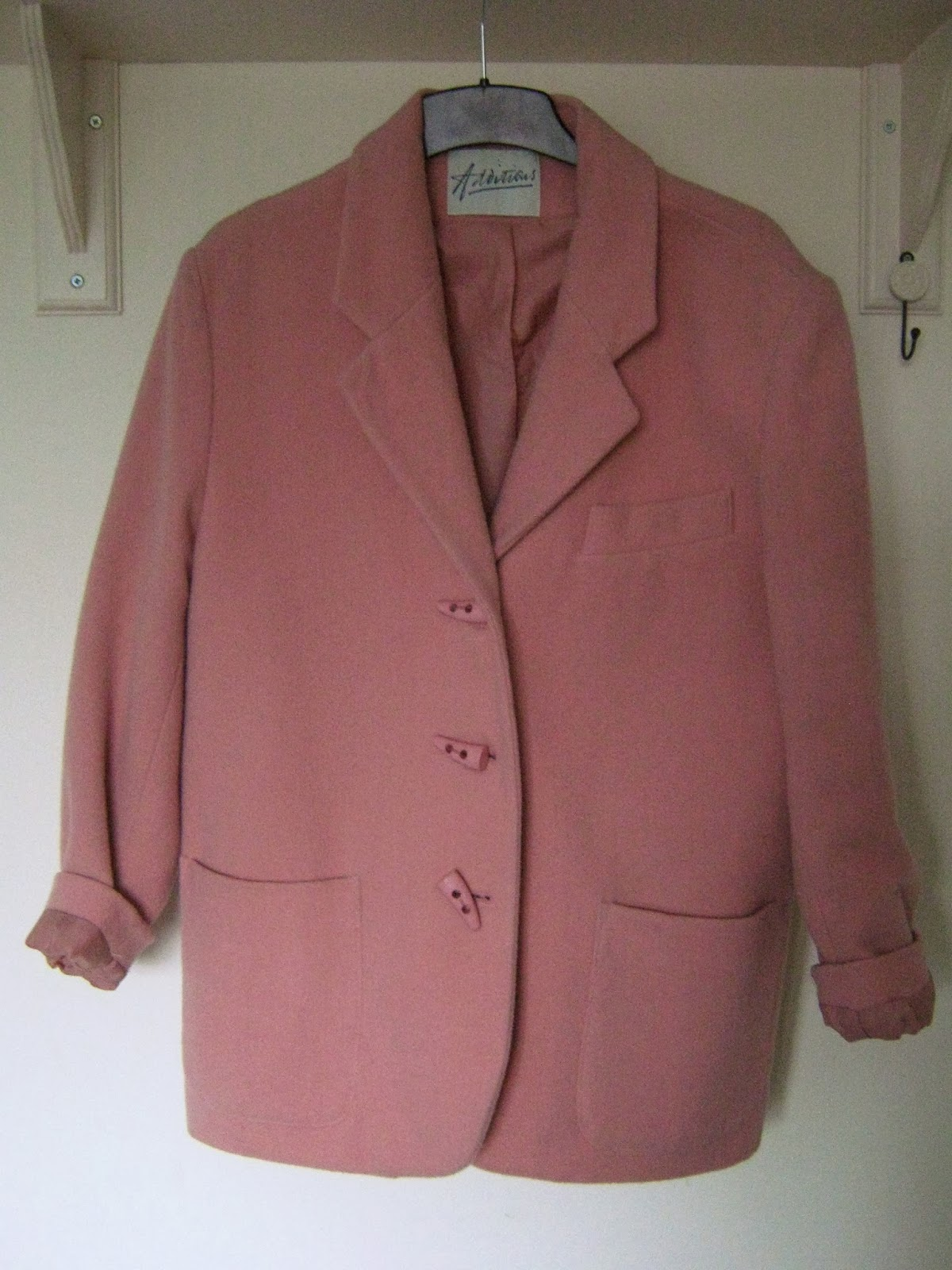 Vintage Pastel Pink Cocoon Coat
