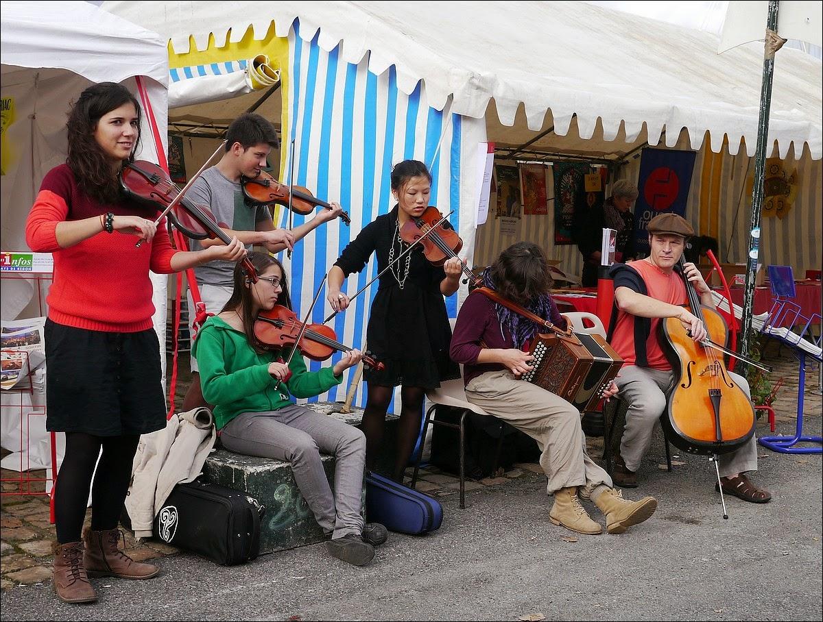 musiciens quartier du port foire Teillouse de Redon