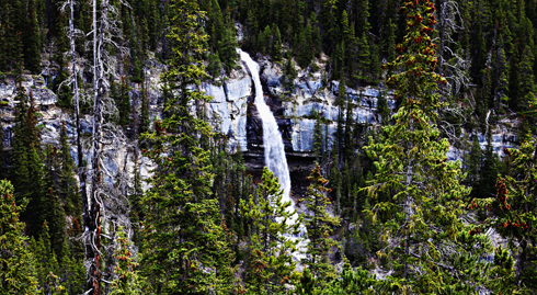 bridal veil falls alberta travel photography series
