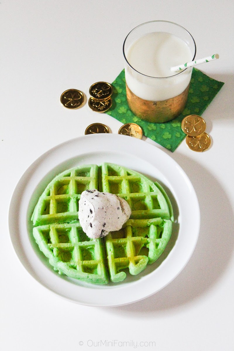 St. Paddy\'s Waffle Cake with Mint Chocolate Chip Ice Cream - Our ...