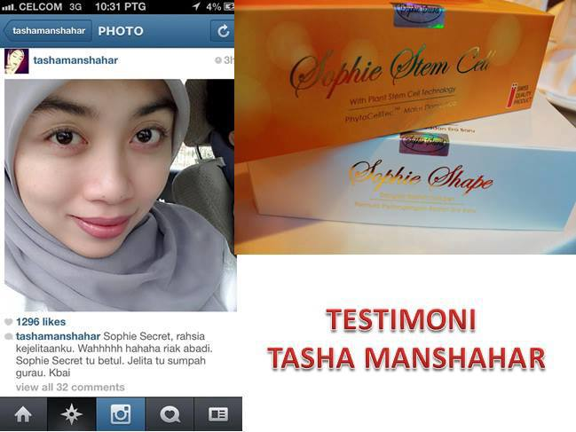 TESTIMONI PRODUK SOPHIE SECRET (SOPHIE STEM CELL & SOPHIE SHAPE)