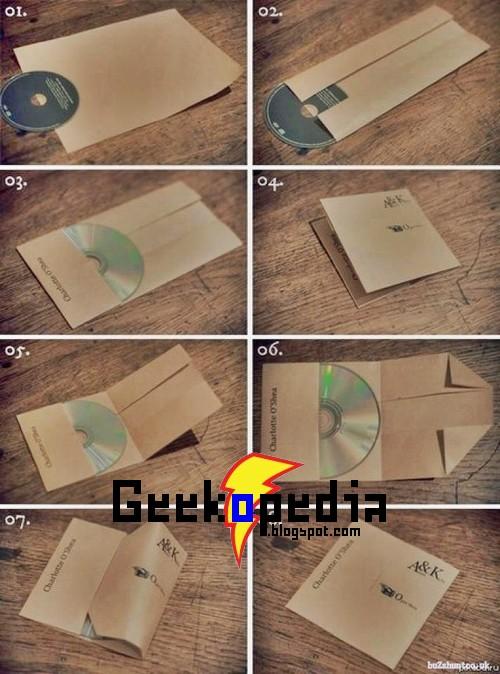 Cómo hacer un sobre casero para CDs/DVDs con una hoja de A4