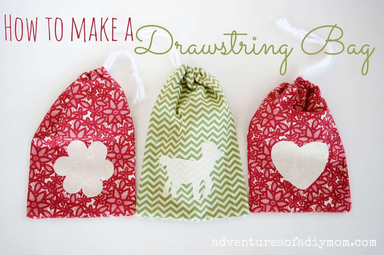 How to Make a Drawstring Bag - Beginner Sewing Project ...