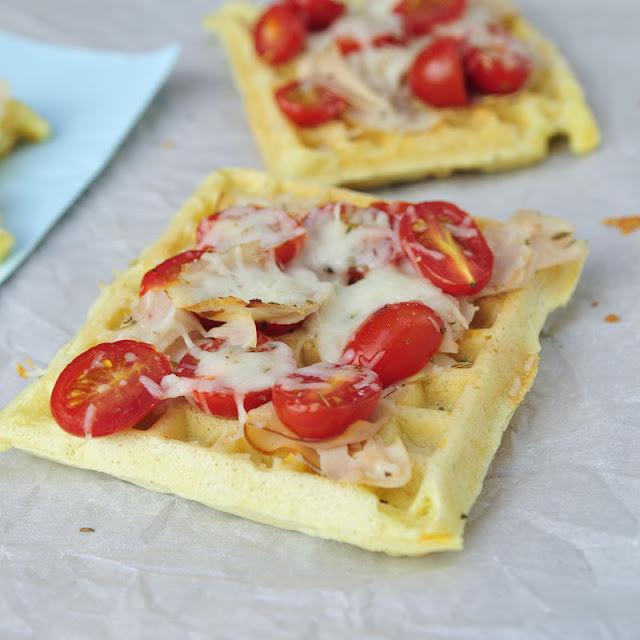 Haniela's: Tomato Ham and Cheese Pizza Waffles