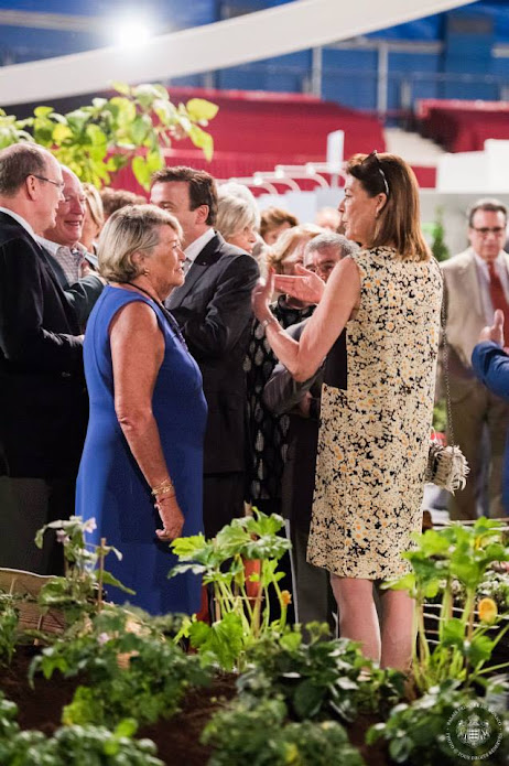 "Princess Caroline of Hanover and Prince Albert II of Monaco attended the International ""Concours de Bouquets"" (Bouquet Competition)"