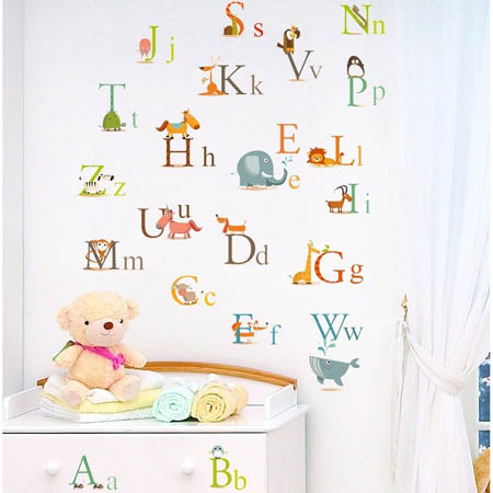Wall Decals For Nursery Decorating Educational Alphabet