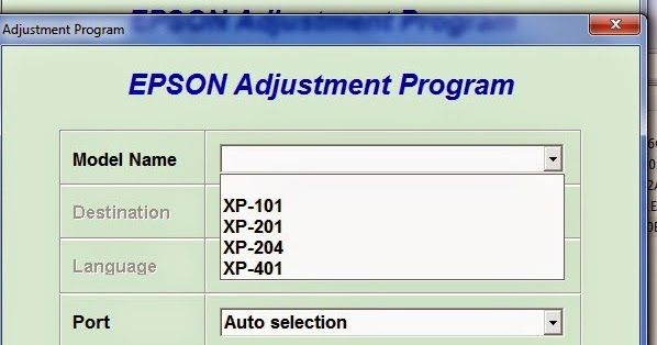 Epson XP XP 201/200, 401/400, 101, 204 Waste Ink Pad Service Reset ...