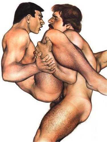 Gay bear making love