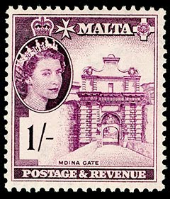 Malta QEII 1/- Stamp