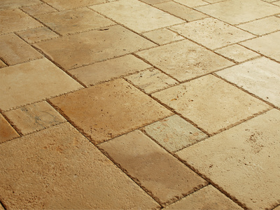 Quick mix natural stone flooring