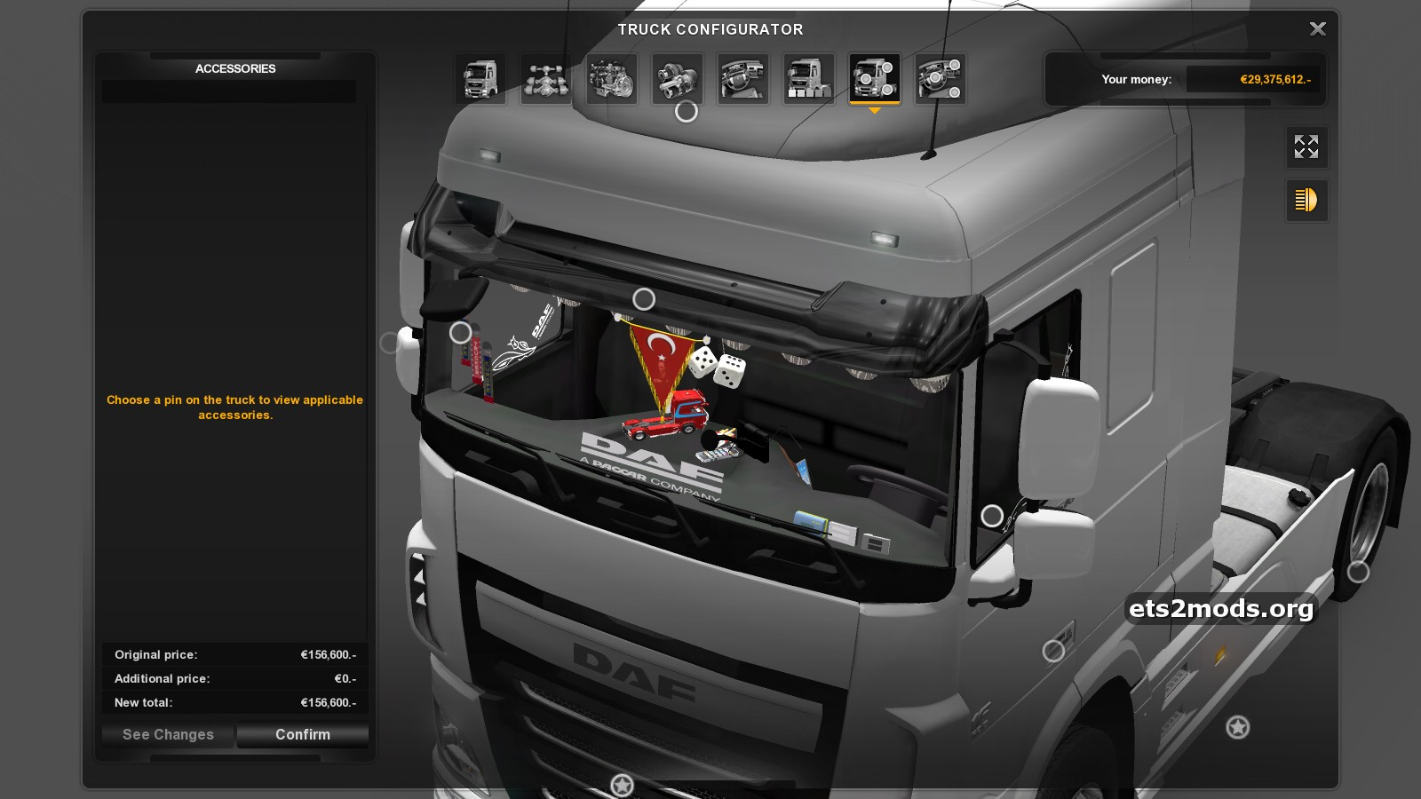 Daf euro 6 turkish interior ets2 mods for Daf euro 6 interieur
