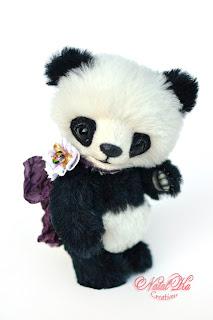 Авторский медведь тедди, тедди с шармом, мишка тедди, мишки тедди, медвежонок тедди, панда тедди, Künstlerteddy, Teddys, Teddybär, Panda Teddy, Panda Bär, Unikat, NatalKa Creations, artist teddy bear, teddies, panda, ooak toy, artist bear, artist panda, teddies with charm, bear jointed, one of a kind