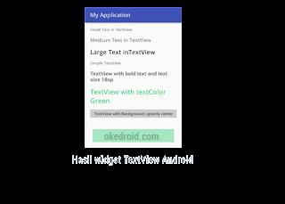 Hasil Contoh Penerapan Widget TextView Android